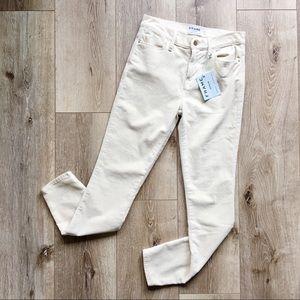 NWT Frame | Le High Skinny Velveteen in Off-White